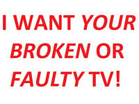Looking for BROKEN OR FAULTY TVs Televisions Tablets Portable DVD Player for FREE! WILL COLLECT TOO!