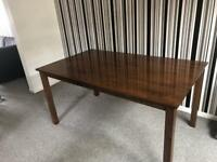 *REDUCED* 6 Seater Dining Room Table (Walnut)