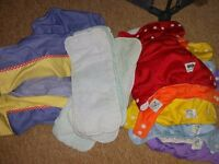 Rainbow washabe adjust popper nappies pads hanging nappystacker pocket allin1 eco Paulton Stapleton