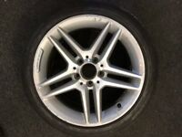"GENUINE MERCEDES AMG 17"" ALLOY WHEEL WITH MICHELIN TYRE - 225/45/17"