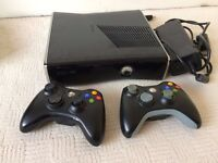 Xbox360 Xbox 360 Slim 250Gb, 2 wireless controllers, lots of games worth £££