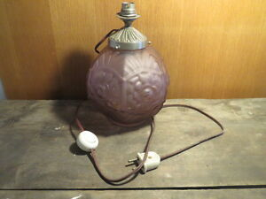 Ancienne-lampe-boule-en-verre-vintage-art-deco-signee-LA-made-in-France-old-lamp