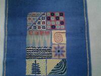 Picasso blue rug