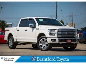 2016 Ford F-150 Platinum, One Owner Trade, Hard Folding Cover