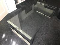 DFS GLASS COFFEE TABLES