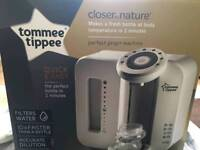 Brand new Tommee Tippee Closer to nature perfect prep machine, and extra filter