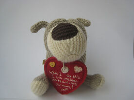 """Boofle dog / teddy / collectible - """"When I do this I can pretend you're not very far away"""""""