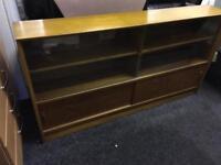 Teak bookcase can deliver