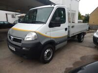 VAUXHALL MOVANO DROPSIDE 3.5T 25 CDTI 2008 75K MILES FULL SERVICE HISTORY IMMACULATE £4495 PLUS VAT