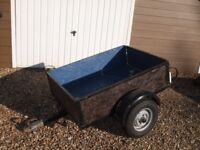 Box Trailer 4ft x3ft drop down tailgate and trailer board DORSET