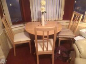 CREAM LEATHER SOFAS AND TABLE SET CREAM