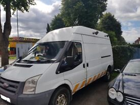 FORD TRANSIT LWB HIGH TOP VAN 2009 REG 12 MONTHS MOT 1 OWNER FULL SERVICE HISTORY
