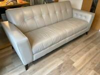 Ex-DFS 3 seater leather sofa