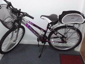 Ladies Goldrush Paris mountain bicycle with front suspension system
