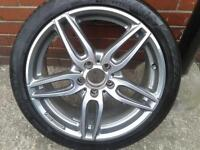 "1 X GENUINE MERCEDES A CLASS 18"" AMG ALLOY & 225/40/18 CONTINENTAL TYRE A1764010700"