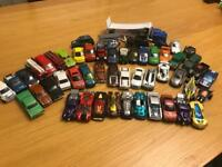 Collection of over 50 die cast hot wheel cars