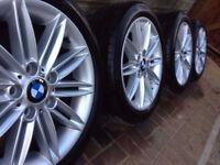 """BMW 1 Series E81 E82 E87 18"""" Alloy Wheels & Tyres Style 207 - Genuine BMW"""