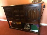 Solid Dark wood coffee table, sideboard and tv stand/entertainment unit