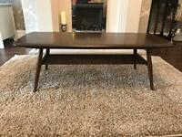 ERCOL WINDSOR COFFEE TABLE WITH MAGAZINE RACK