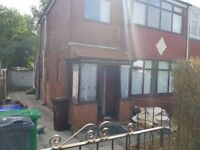 3 Bedroom semi detached house in Crumpsall, Manchester. DSS welcome with guarantor.
