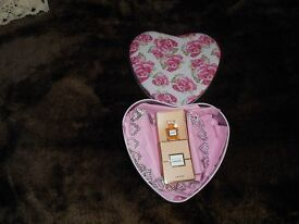 heart shape box with 1.5 chanel allure pure perfum