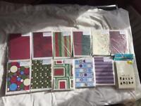 11 Packs of Christmas Themed Card Blanks
