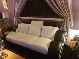 3 + 2 leather sofa