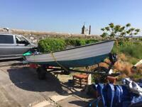 4.5 Metre Boat and trailer with almost new Honda 20HP outboard
