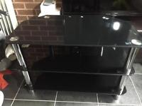 """Tv stand up to 37"""", black and chrome"""