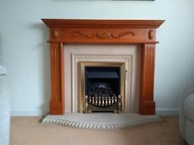 Glowworm Gas Fireplace, Rio Mantle & Surround, and stone hearth
