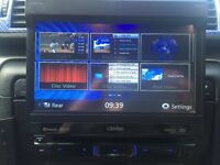 "Clarion nz502e 7"" touch screen sat nav & DVD player"