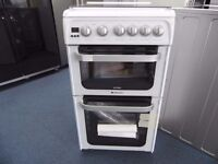 EX-DISPLAY WHITE HOTPOINT 50 WIDE ALL GAS COOKER REF: 31216