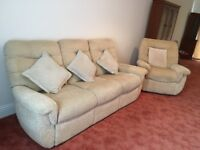 G-Plan 3 Piece Suite with Reclining Chair