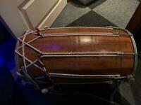 Dhol - Indian Drum + Bag + Sticks
