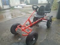 Red 2 seater Go Kart, age 8 +