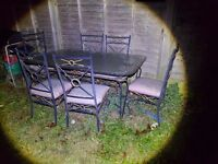 Large outdoor table and chairs free to collector