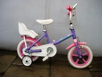 Girls First Bike 'Designer', Pink & Purple, 8 inch wheels Are Great For Kids 1 1/2 Years Plus!!!!!!