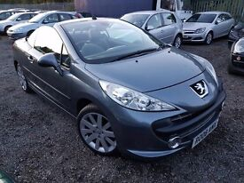 Peugeot 207 CC 1.6 THP GT 2dr, FSH. HPI CLEAR. 2 KEYS. FULL LEATHER INTERIOR. REAR PARKING SENSORS