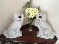 Pair Vintage mantle Staffordshire Spaniels