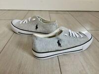 Womens Ralph Lauren Grey Sneakers UK Size 4