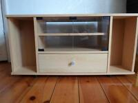 Beech Effect TV Stand with Media Storage Cabinet £10