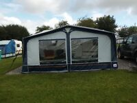 Dorema awning size 10. Light weight aluminium frame, as new only used 4 times. Cost nearly £700.