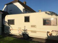 Avondale Argente 4/5 berth caravan good condition with full Bradcott Awning!
