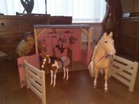 Our generation bundle, stable, large horse, pony and doll. £85 ono
