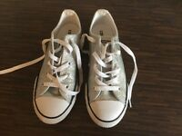 Converse silver glitter size 2 - hardly worn