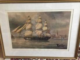 Barque Mary Bibby - painting by J. Heard