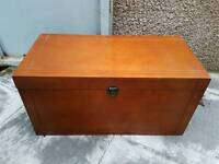 Brand new wooden blanket Ottoman toy box. Perfect for kids room