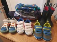 Shoes size 5 1/2 and some clothes for 12-18m boy