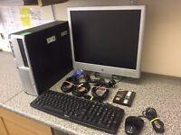 "HP COMPAQ DC5100 SFF PC & HP 19"" LCD SCREEN *FAST 3.4GHZ/WIFI/3GB RAM/500GB HD/WINDOWS 7 & OFFICE*"