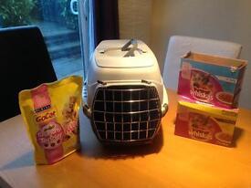 Kitten starter- carry case & food
